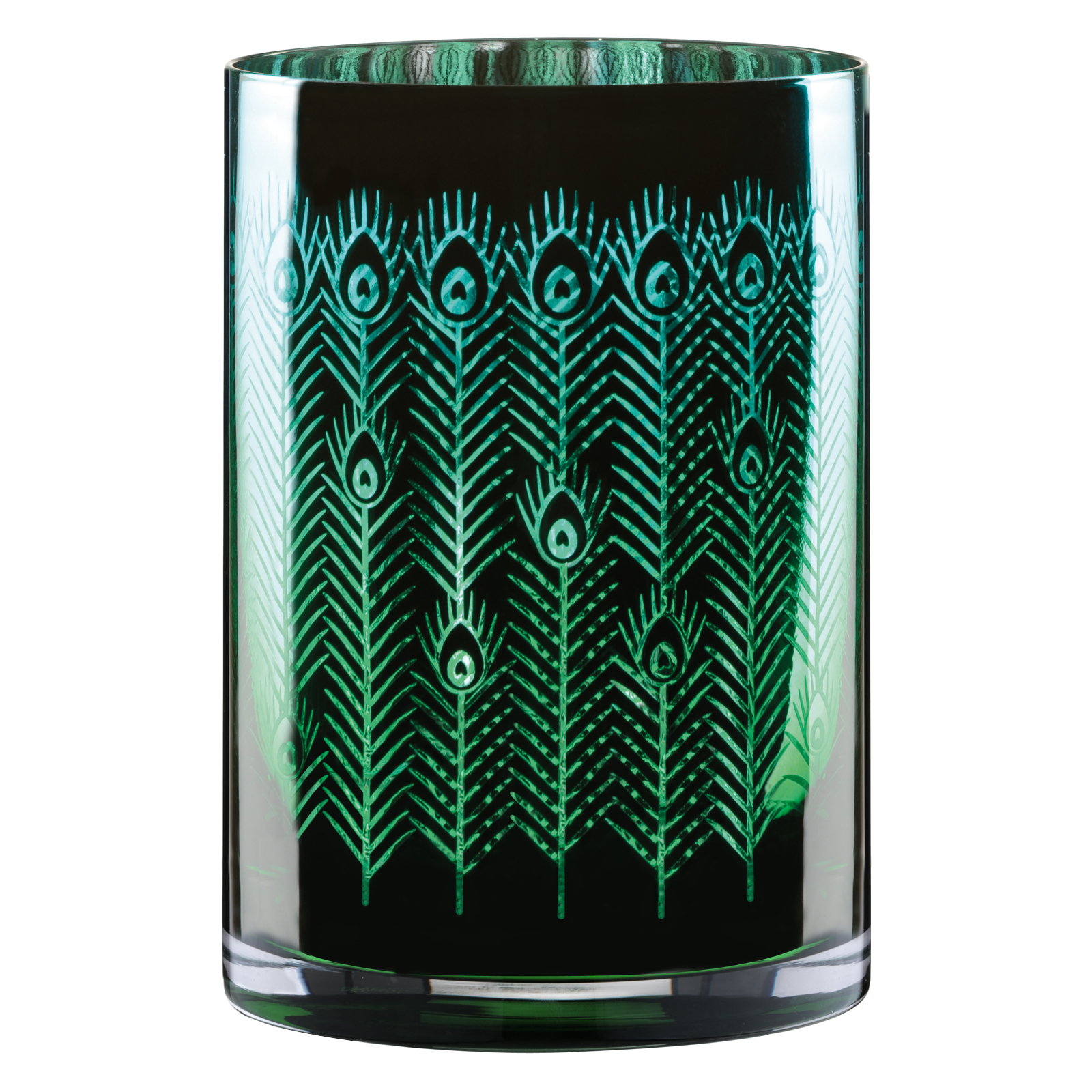 Peacock Hurricane Lamp