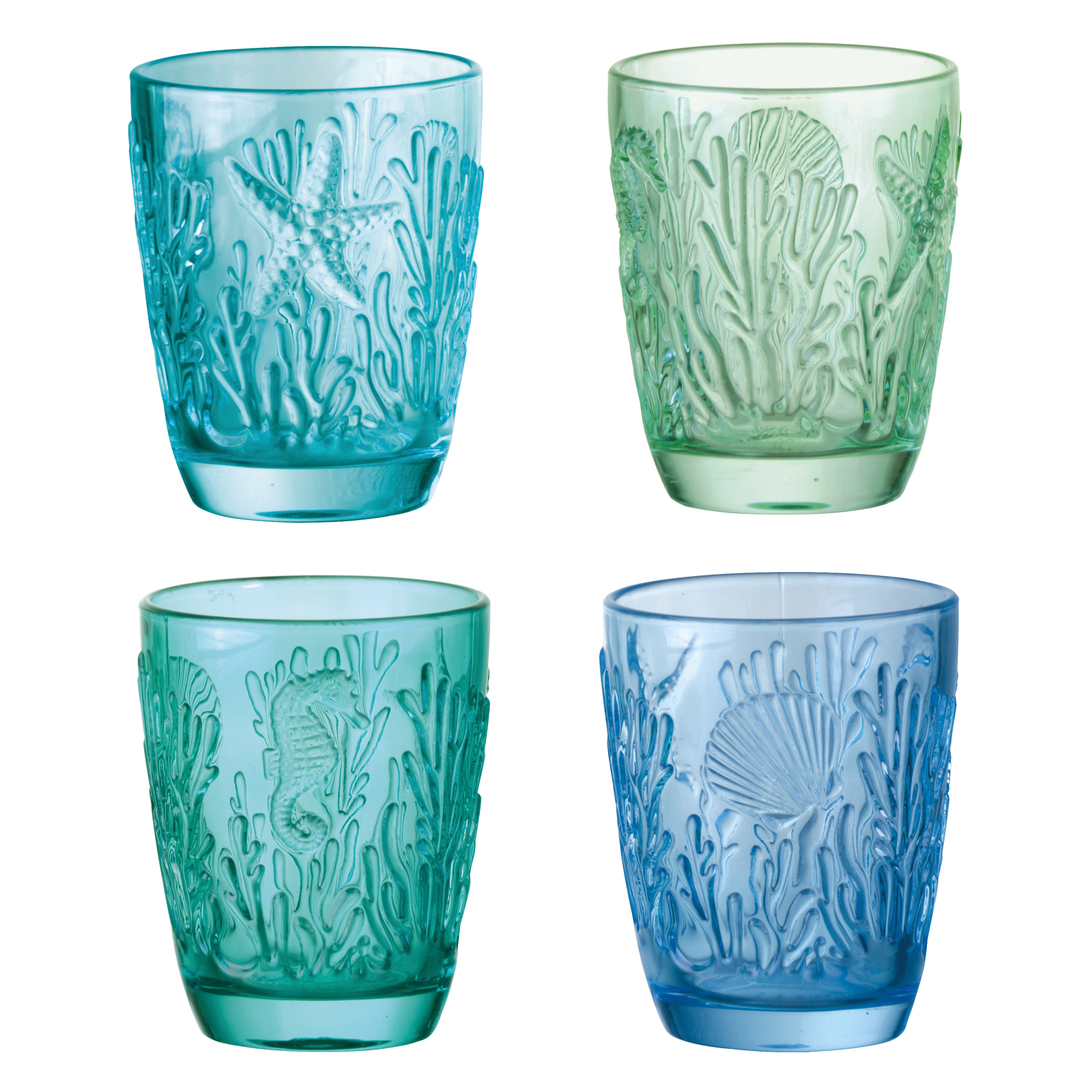 Marine DOF Tumblers, Set of 4