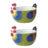 Dawn Chorus Green Cereal Bowls, set of 2