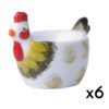 Dawn Chorus Green Egg Cups, set of 6