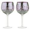 Set of 2 Filigree Gin Glasses Lilac by Artland