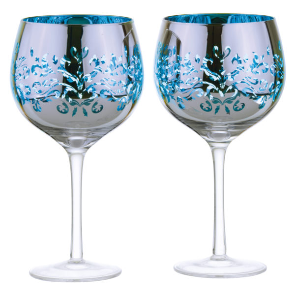 Set of 2 Filigree Gin Glasses Lilac by Artland