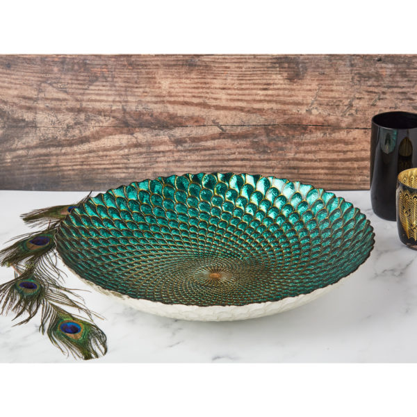 Peacock Bowl by Anton Studio Designs